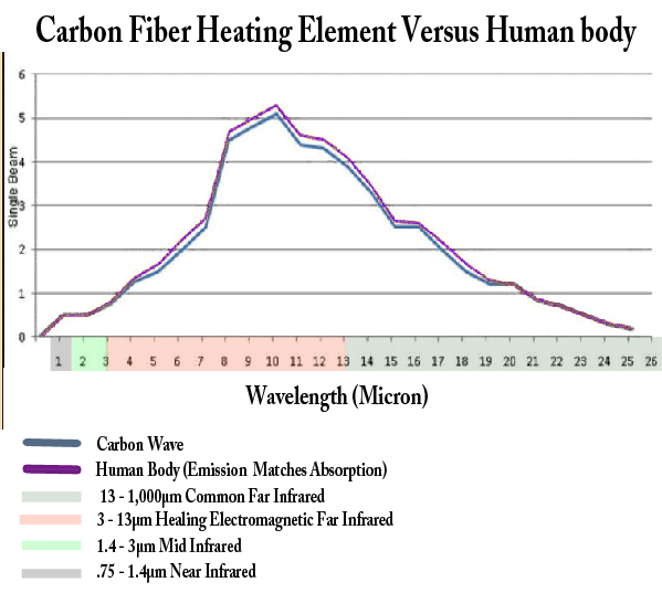 Carbon wave compare to human body graff
