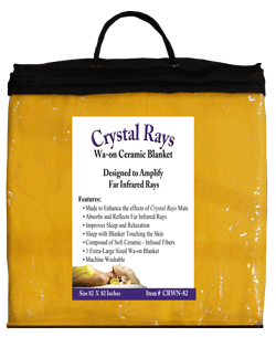 Crystal Rays Waon Blanket in bag and folded in frount